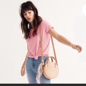 Madewell bubblegum pink knot-front T-shirt NWT
